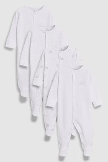 Next Delicate Multi Print Sleepsuits Four Pack (5mths-2yrs)