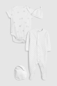 Next Delicate Multi Print Four Piece Sleepsuit Set (5-6mths)
