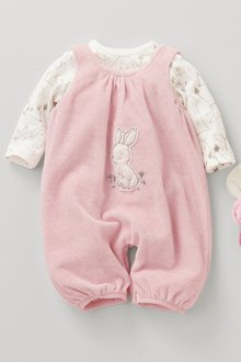 Next Bunny Velour Dungarees (0mths-2yrs)