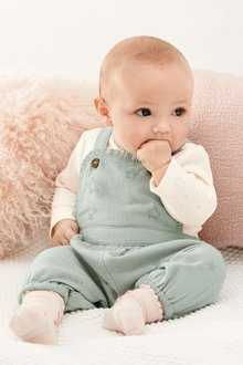 Next Embroidered Dungaree Set (0mths-2yrs)