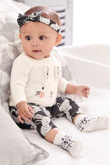 Next Bunny Three Piece Set (0mths-2yrs)