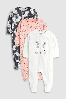 Next Bunny Character Sleepsuits Three Pack (0mths-2yrs)