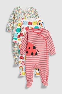 Next Ladybird Character Sleepsuits Three Pack (0mths-2yrs)