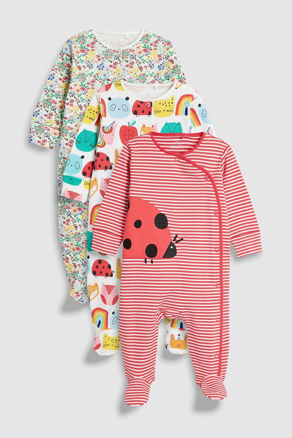 5400bb759 Next Ladybird Character Sleepsuits Three Pack (0mths-2yrs) Online ...