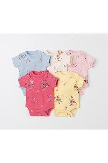 Next Multi Floral Short Sleeve Bodysuits Five Pack (0mths-2yrs)