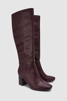 Next Block Heel Knee High Boots