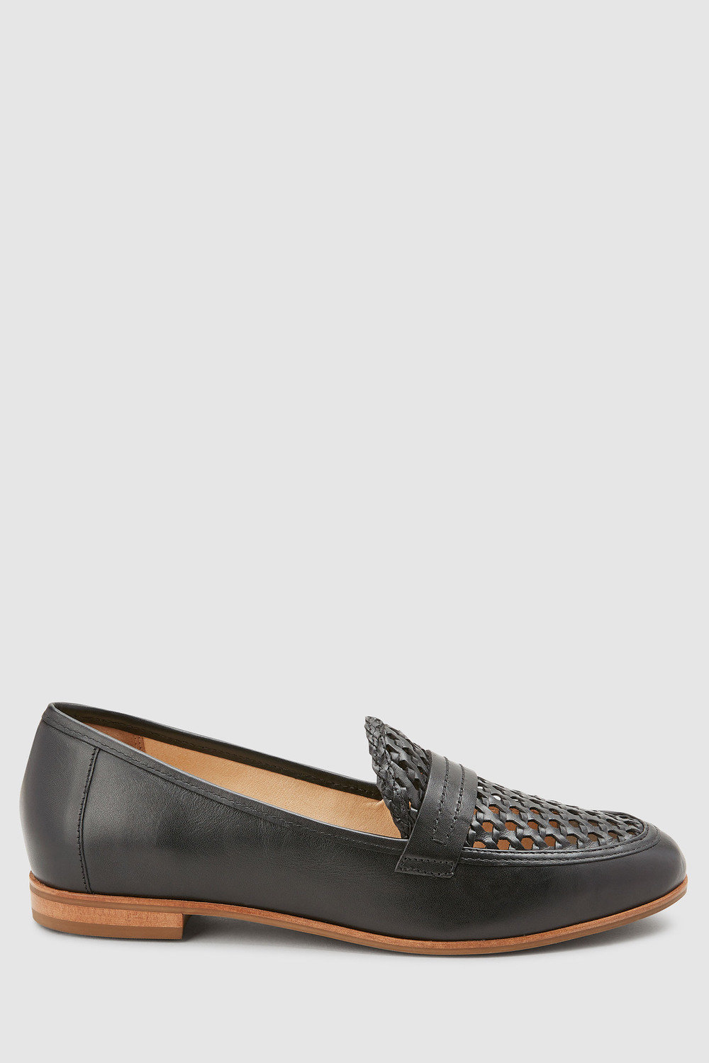 cde7161a5a6 Next Signature Forever Comfort Leather Woven Loafers Online