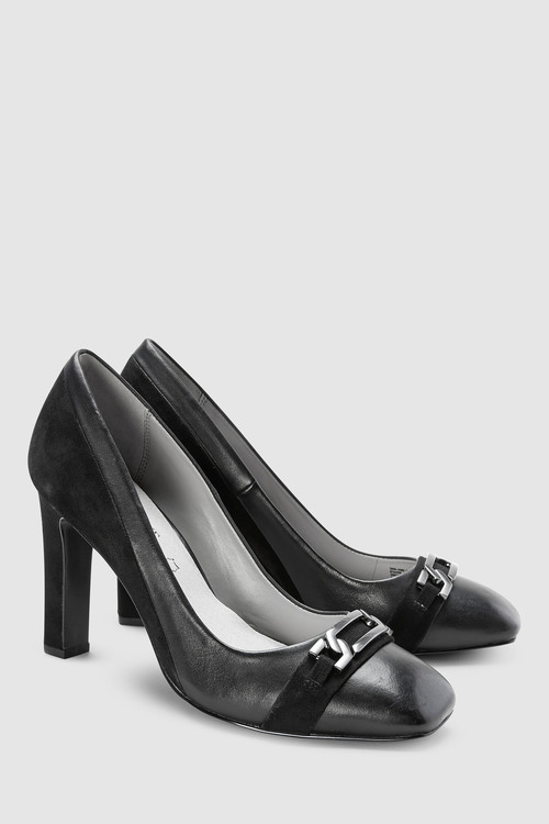Next Forever Comfort Buckle Detail Court Shoes