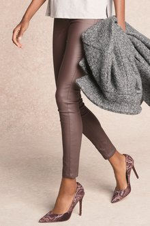 Next Pull-On Coated Leggings-Tall
