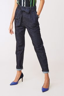 Next Belted Tapered Jeans