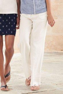 Next Linen Blend Wide Leg Trousers