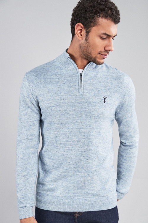 Next Marl Zip Neck