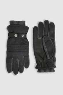 Next Fabric And Leather Gloves