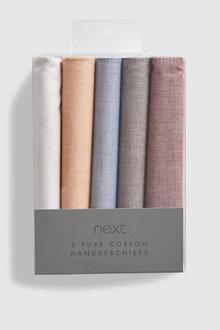 Next Coloured Cotton Handkerchiefs Five Pack