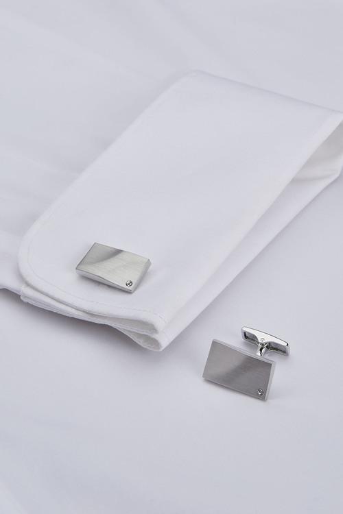 Next Diamanta Cufflinks And Tie Clip Set
