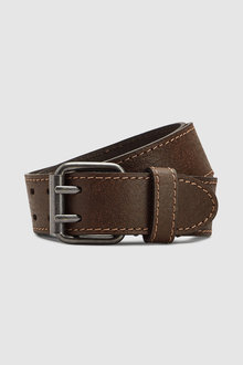 Next Casual Leather Two Prong Belt