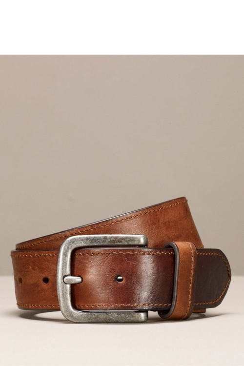Next Leather Casual Stitched Edge Belt