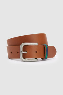 Next Leather Striped Loop Belt