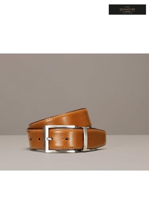 Next Signature Italian Leather Reversible Belt