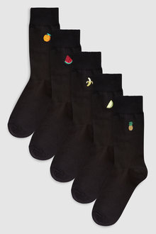 Next Fruit Embroidered Socks Five Pack