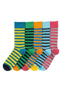 Next Block Stripe Socks Five Pack