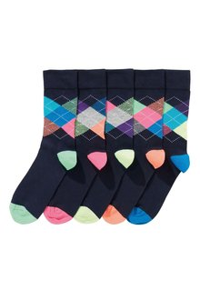 Next Argyle Socks Five Pack