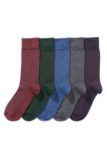 Next Pindot Spot Socks Five Pack