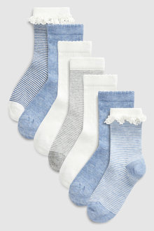 Next Ruffle Socks Seven Pack (Younger)