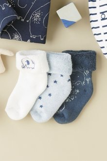 Next Towelling Socks Three Pack (Younger) - 226432