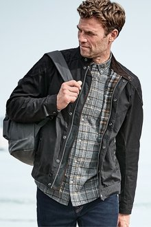 Next Wax Biker Jacket - 226442