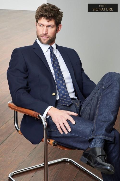 Next Signature British Wool Jacket-Slim Fit