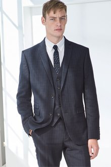 Next Super Skinny Check Suit: Jacket