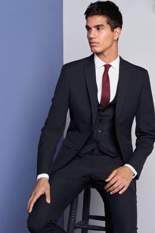 Next Three Button Suit: Jacket-Regular Fit