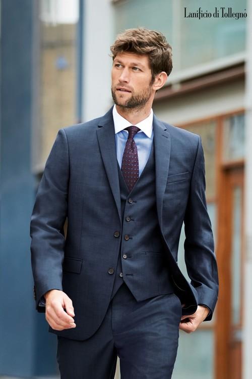 Next Signature Plain Suit: Jacket-Tailored Fit