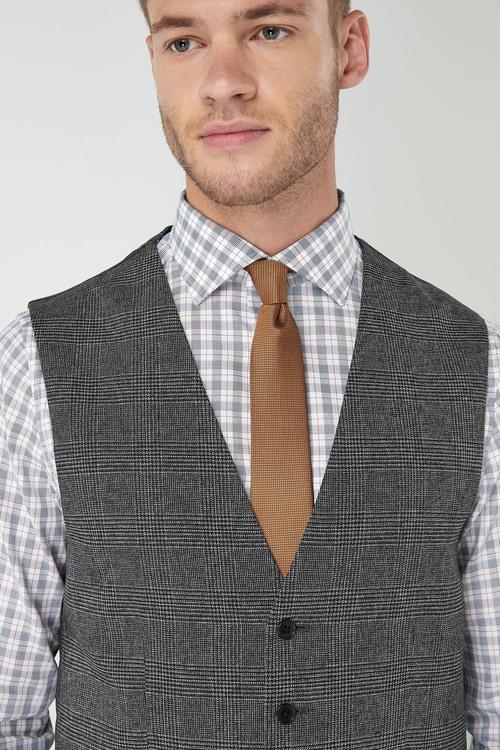 Next Slim Fit Check Suit: Waistcoat