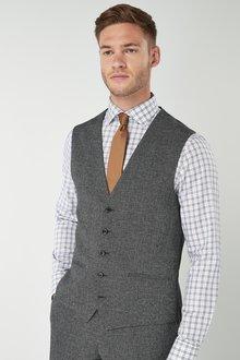 Next Slim Fit Check Suit: Waistcoat - 226483