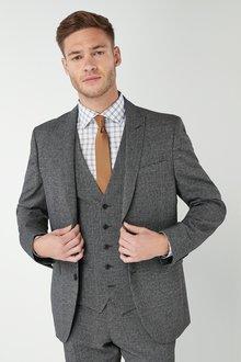 Next Slim Fit Check Suit: Jacket - 226484
