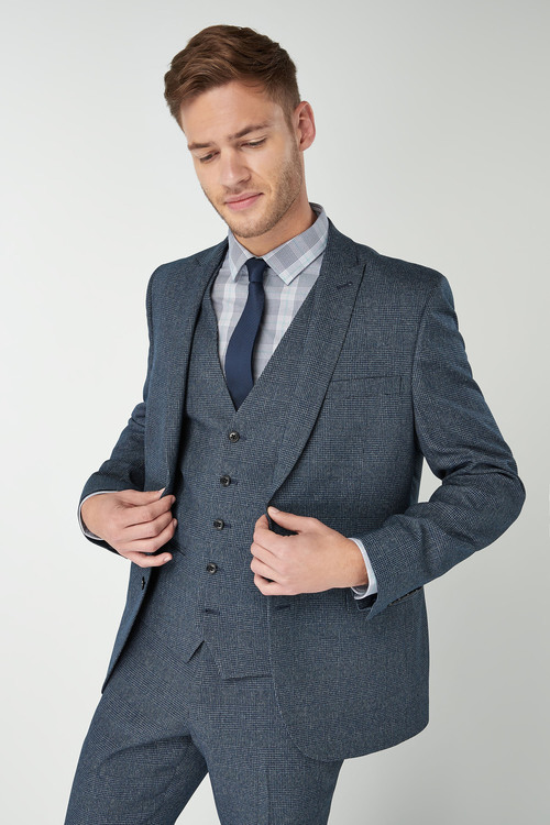 Next Slim Fit Check Suit: Jacket