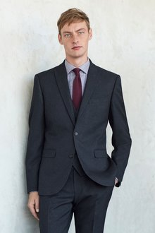 Next Check Suit: Double Breasted Jacket