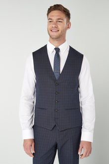 Next Tailored Fit Check Suit: Waistcoat