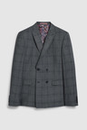 Next Tailored Fit Double Breasted Check Suit: Jacket