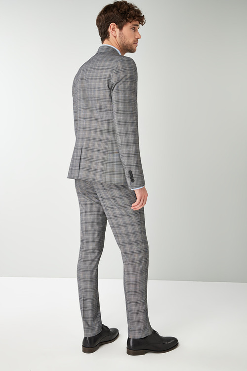 Next Skinny Fit Check Suit: Jacket