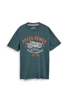 Next Soft Touch Motorbike Graphic T-Shirt