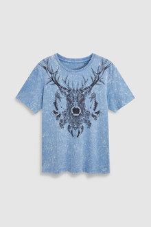 Next Acid Wash Stag T-Shirt