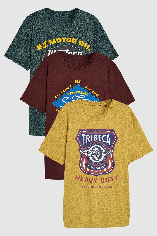 a52e78e47 Next Graphic T-Shirts Three Pack Online | Shop EziBuy