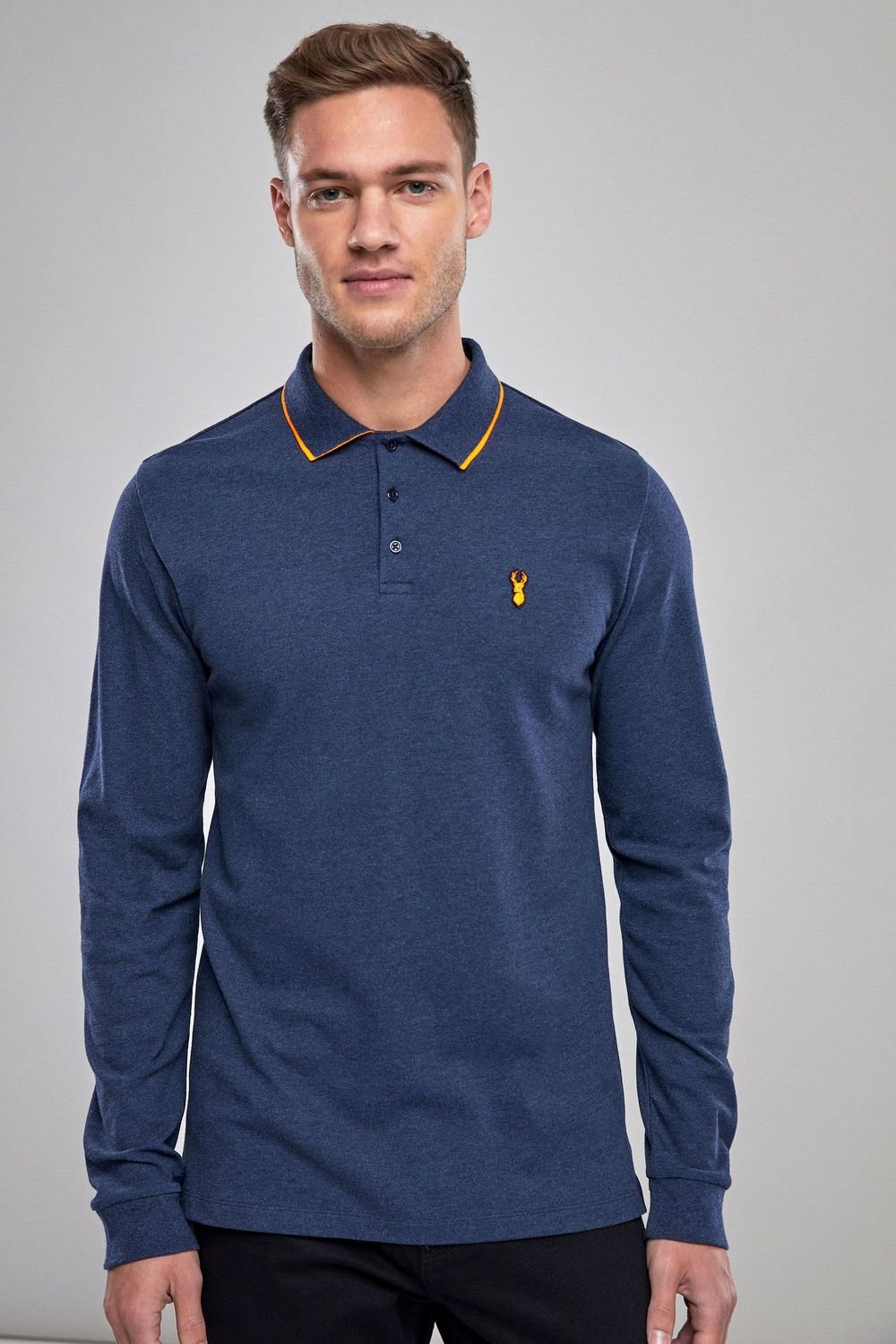 945bb9f3fa5 Next Long Sleeve Neon Tipped Polo Online