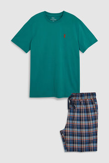 Next Check Woven Short Set