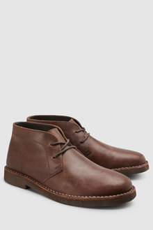 Next Leather Heavy Sole Desert Boot