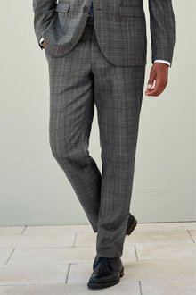 Next Tailored Fit Prince Of Wales Check Suit: Trousers
