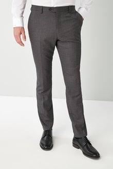 Next Skinny Fit Mini Check Suit: Trousers